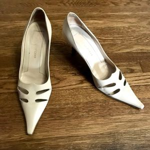 Sergio Rossi Tan Leather Pointed Heels Cutouts 39